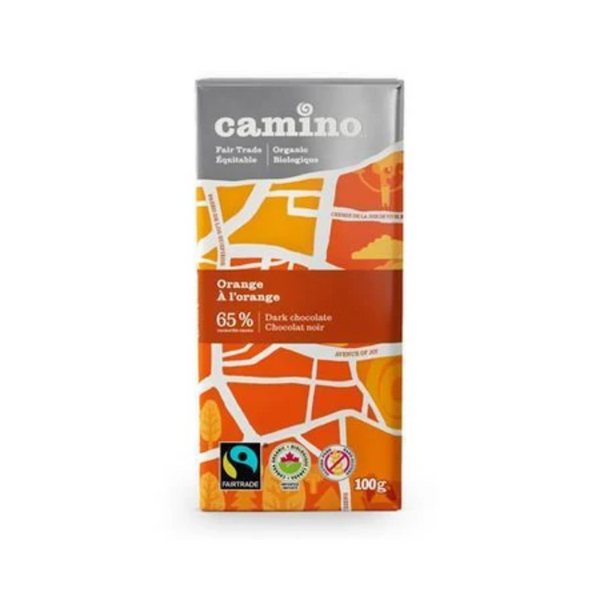 Camino Orange 65% Dark Chocolate Bar  100G