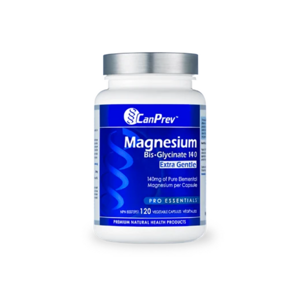CanPrev Magnesium Bisglycinate Extra Gentle 140mg 120vcaps