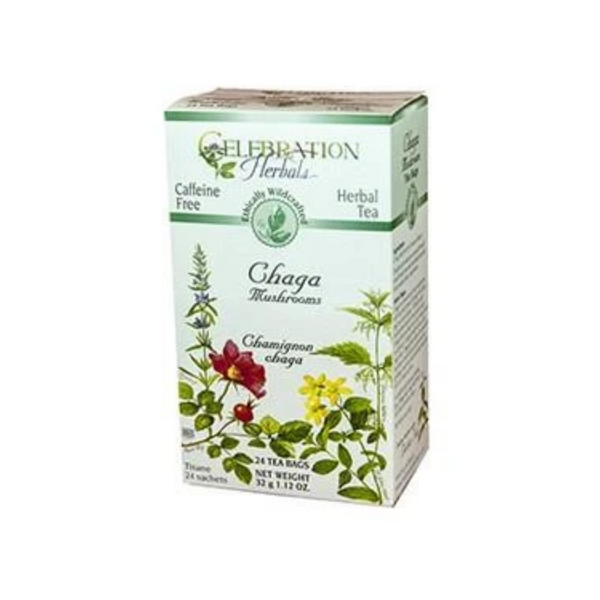 Celebration Herbals Chaga Mushrooms 24 Tea Bags