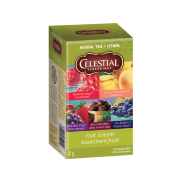 Celestial Seasonings Fruit Tea Sampler Herbal Tea 20 Bags