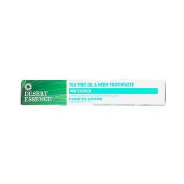 Desert Essence, Tea Tree Oil & Neem Toothpaste Cinnamint 176g