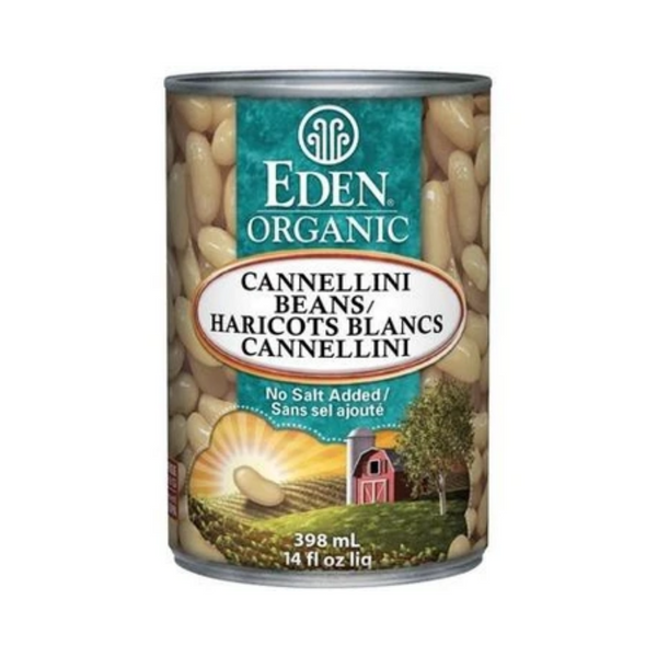 Eden Organic Canned Cannellini White Kidney Beans 398ML