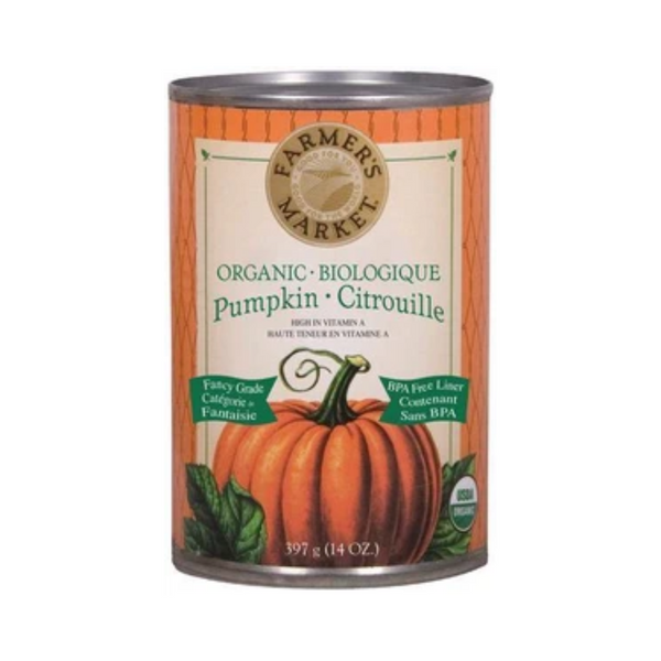 Farmer's Market Foods Organic Canned Pumpkin Puree 397G