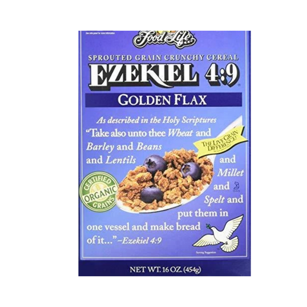 Food For Life Ezekiel 4:9 Flax Sprouted Whole Grain Cereal 454G