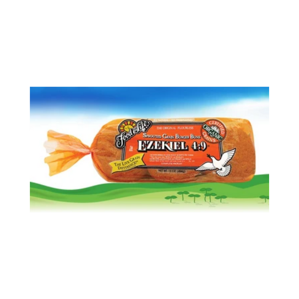 Food For Life Ezekiel 4:9 Sprouted Whole Grain Burger Buns 454G