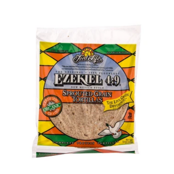 Food For Life Ezekiel 4:9 Sprouted Whole Grain Tortillas