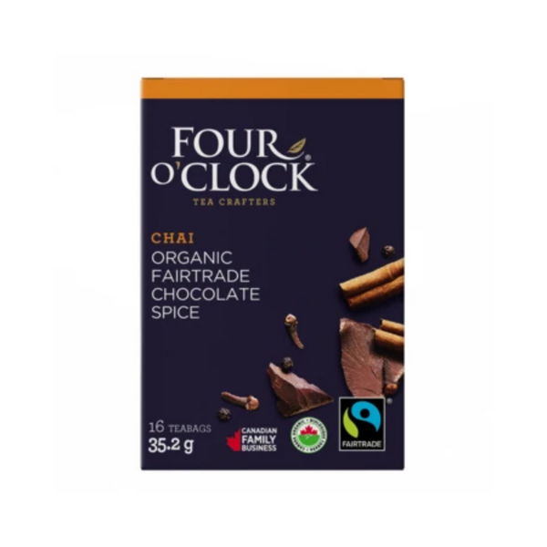 Four O'Clock Chocolate Spice herbal tea Organic-Fairtrade 16 Tea Bags