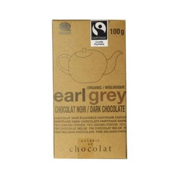 Galerie au Chocolat Earl Grey Dark Chocolate Bar 100G