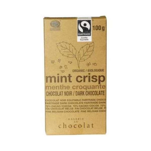 Galerie au Chocolat Mint Crisp Chocolate Bar 100G