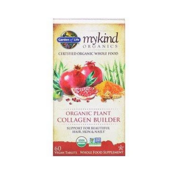 Garden of Life MyKind Organics Organic Plant Collagen Builder 60 Vegan Tablets