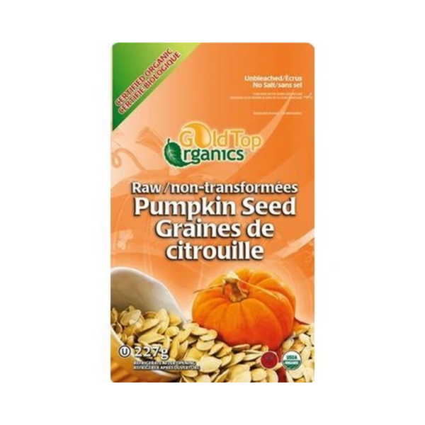 Gold Top Organics Raw Pumpkin Seeds 227G