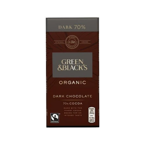 Green and Blacks Organic Dark Chocolate 70% 90G