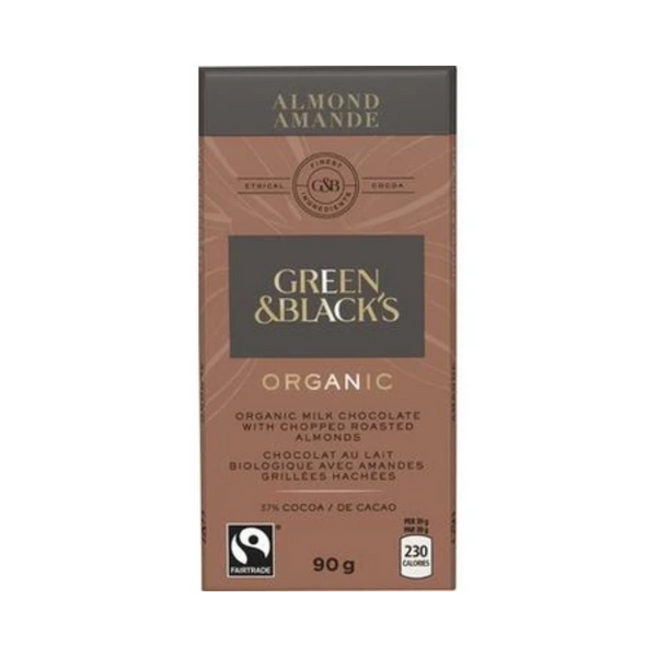 Green & Black's Organic Milk Chocolate Almond 90G