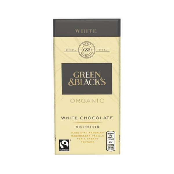 Green & Black's Organic White Chocolate 90G