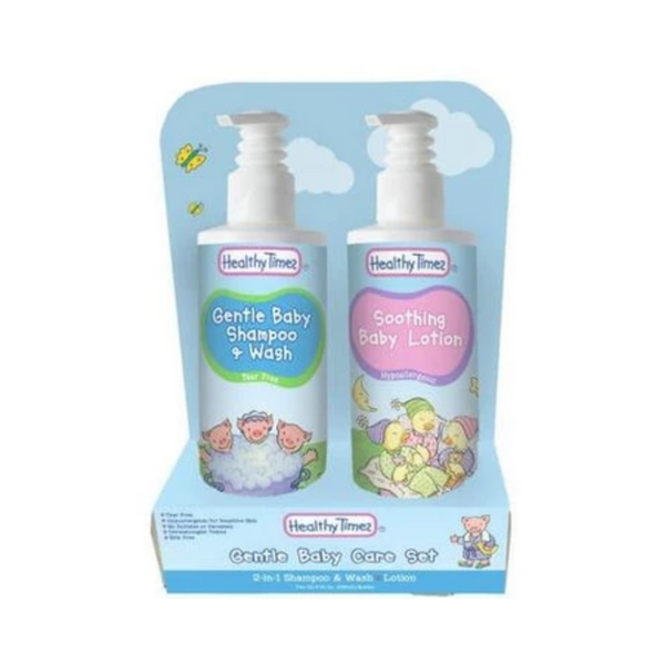 Healthy Times Shampoo & Wash and Soothing Lotion Gentle Baby Care Set