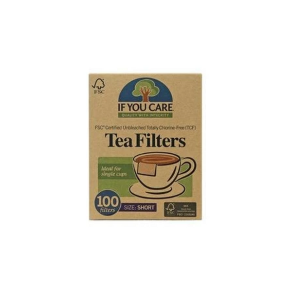 If You Care FSC Certified Unbleached Tea Filters Short 100 Filters