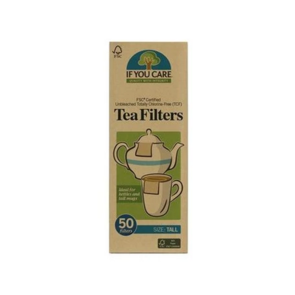 If You Care FSC Certified Unbleached Tea Filters Tall 50 Filters