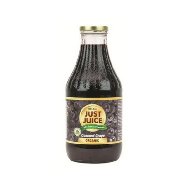 Just Juice 100% Pure Organic Concord Grape Juice 1L