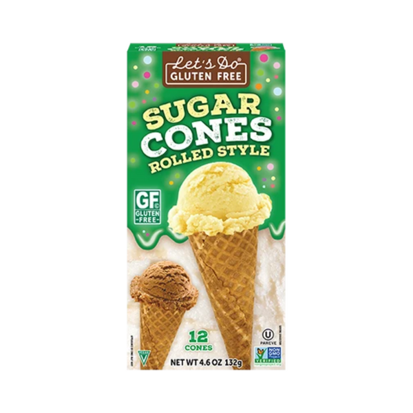 Let's Do Organic Gluten-Free Sugar Cones 132G