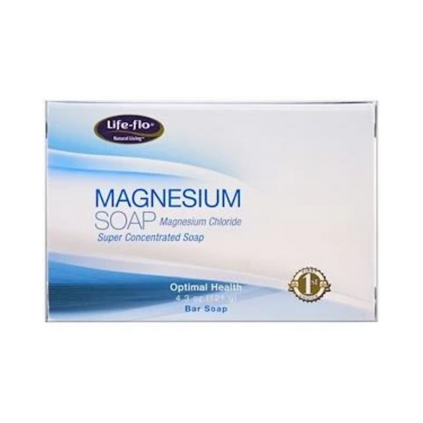 Life-flo Magnesium Soap Magnesium Chloride Super Concentrated Bar Soap 121G