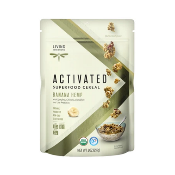 Living Intentions Activated Banana Hemp Cereal 255G