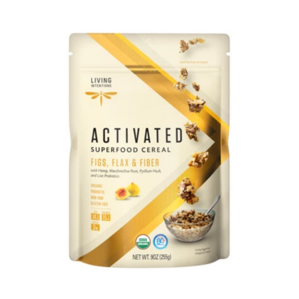 Living Intentions Activated Figs, Flax & Fiber Cereal 255G