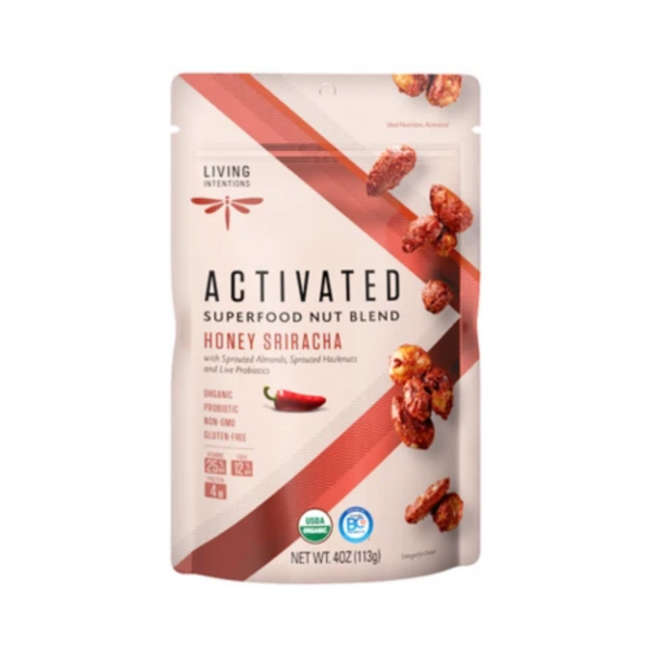Living Intentions Activated Honey Sriracha Superfood Nut Blend 113G