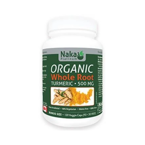Naka Organic Whole Root Turmeric 500mg