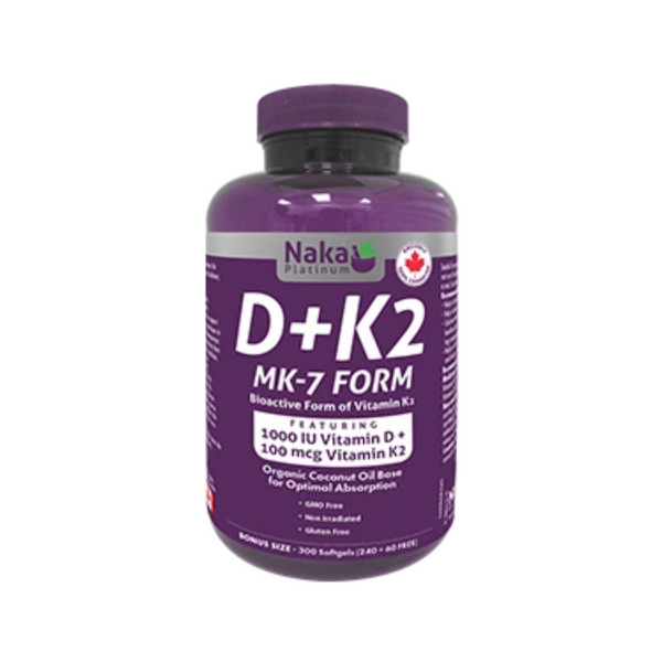 Naka Platinum D3-K2 300 Softgels