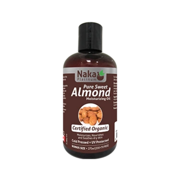 Naka Platinum Organic Pure Sweet Almond Moisturizing Oil 270ml
