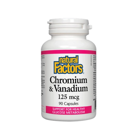 Natural Factors Chromium Vanadium 90 Caps
