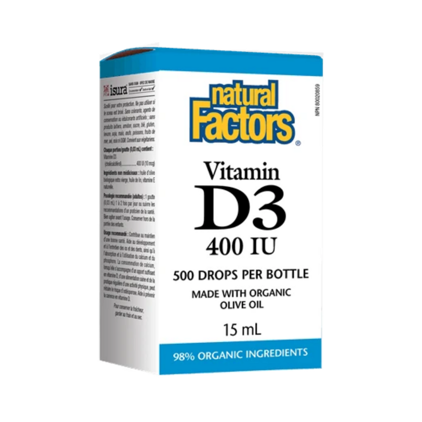 Natural Factors Vitamin D3 400IU 15ML