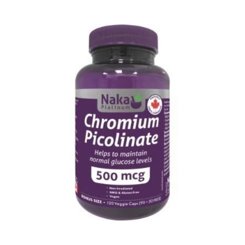 Naka Chromium Picolinate 120V Caps 