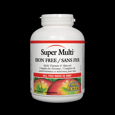 Natural Factors Super Multi® Iron Free 180 Tabs