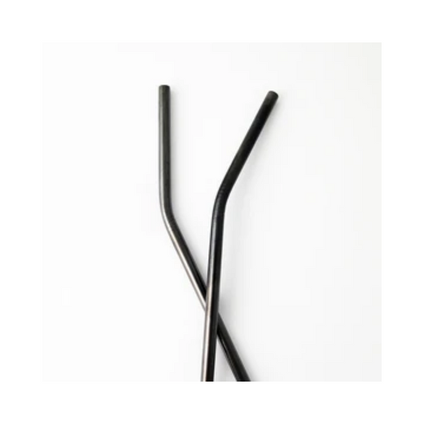 The Last Straw Stainless Steel Black Bent