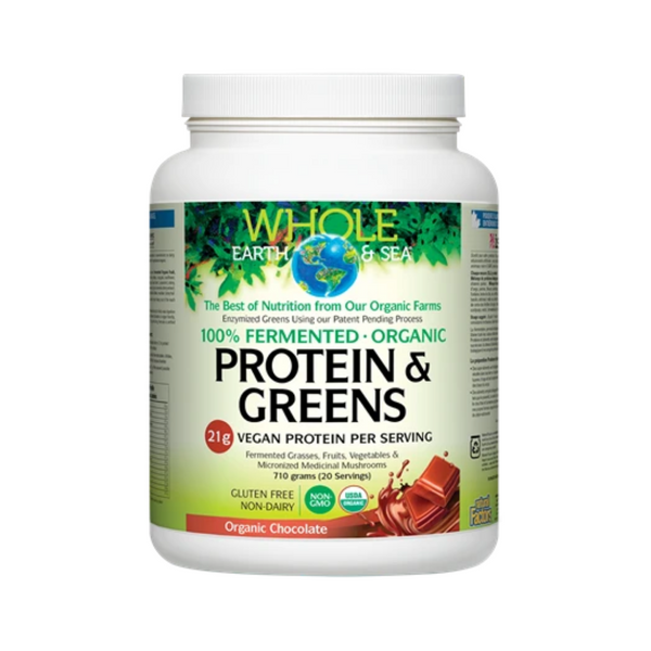 Whole Earth and Sea Fermented Protein and Greens - Organic Chocolate
