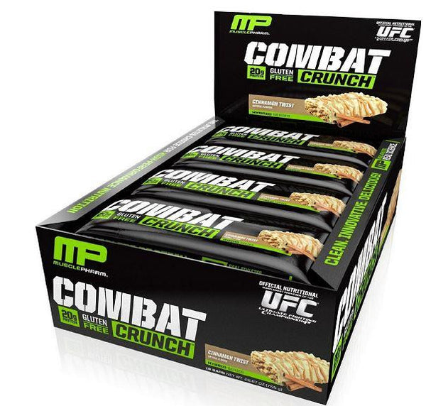 MusclePharm Combat Crunch Bar Cinnamon Twist