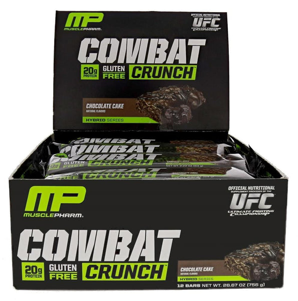 MusclePharm Combat Crunch Protein Bar Chocolate Cake