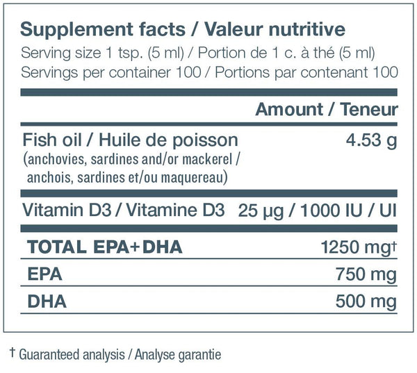 Ascenta NutraSea+D Apple Liquid Omega-3 500ml