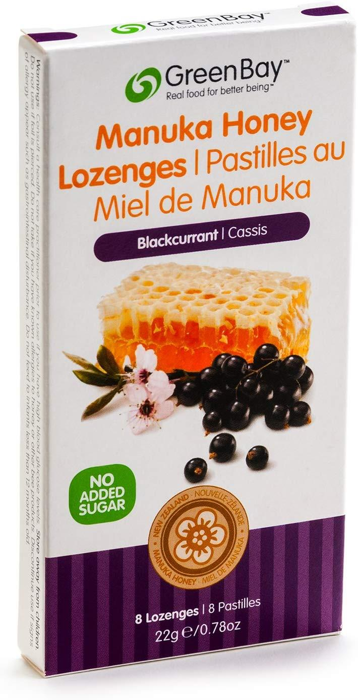 Green Bay Manuka Lozenges Blackcurrant 22G