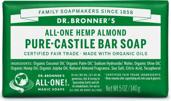 Dr. Bronner Pure-Castille Bar Soap Almond