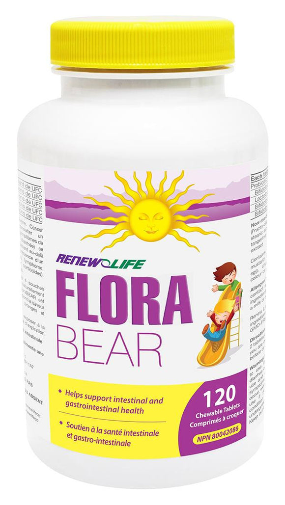 RENEW LIFE FLORA BEAR 120 CHEWS