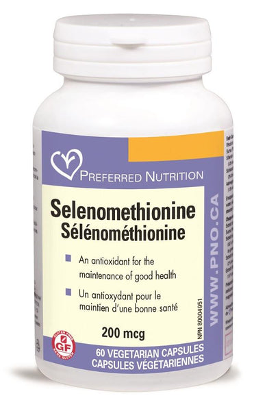 PREFERRED NATURALS Selenomethionine 200mcg 60Vcaps*
