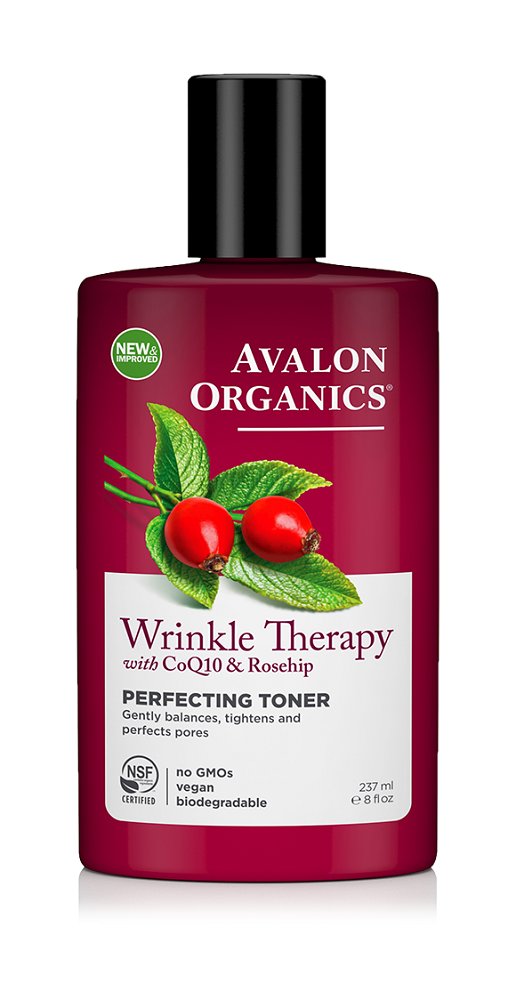 Avalon Organics Wrinkle Therapy Co Q10 & Rosehip Facial Toner 237ml