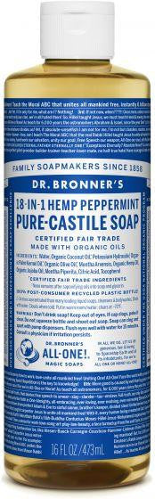 Dr. Bronner Pure-Castile Liquid Soap Peppermint 473ml