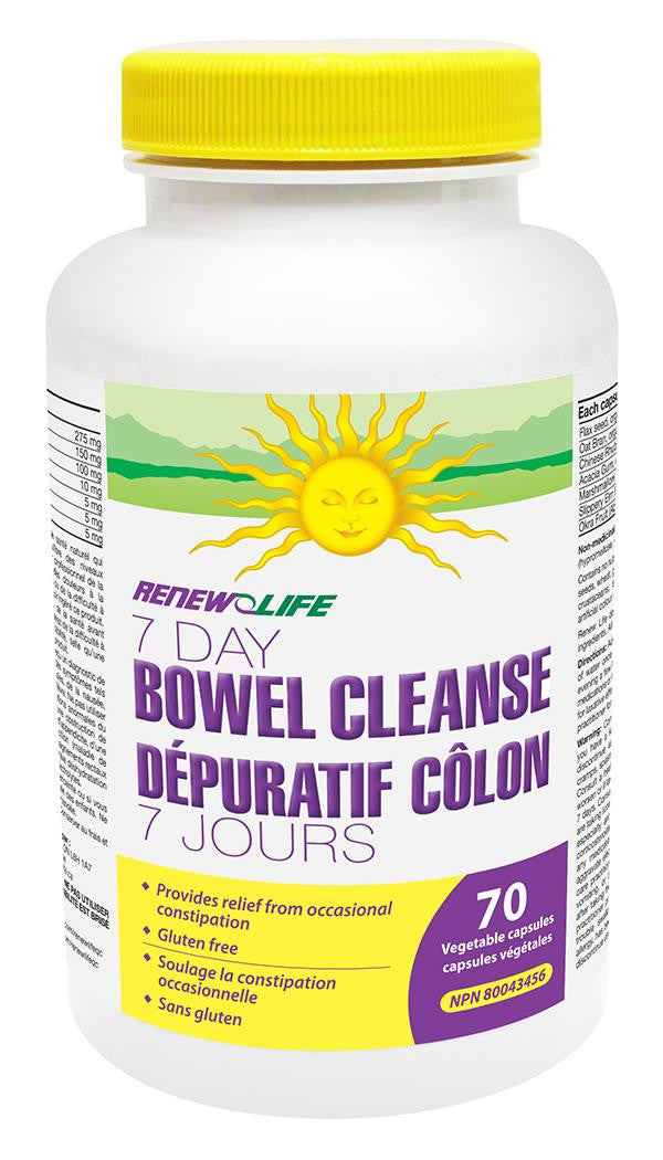 RENEW LIFE 7 DAY BOWEL CLEANSE 70 CAPS