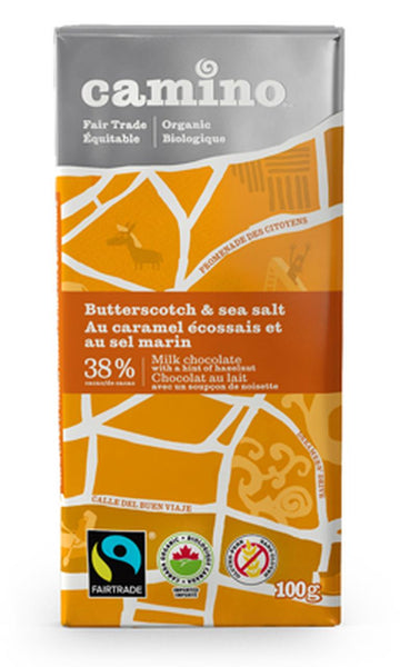 Camino Butterscotch And Sea Salt Milk Chocolate 100G