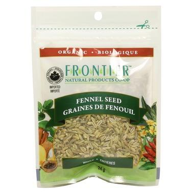 Frontier Natural Products Organic Whole Fennel Seeds 24G