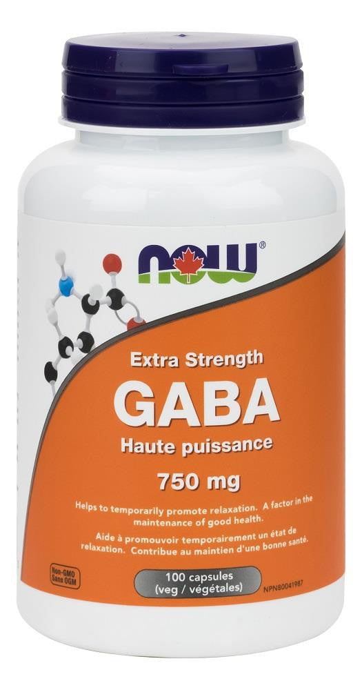 NOW GABA 750MG 100CAPS
