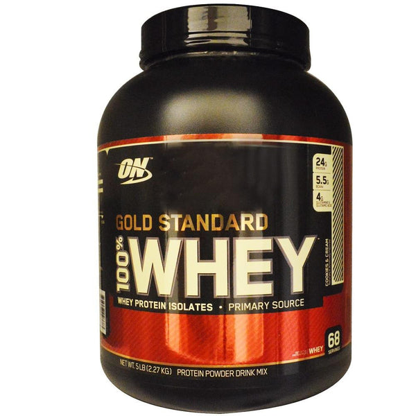 ON Gold Standard 100% Whey Cookies & Cream 5lbs